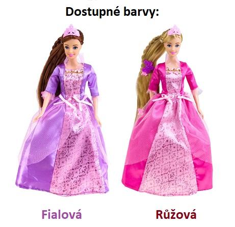 6dc485186 Bábika princezná s dlhými vláskami a korunkou